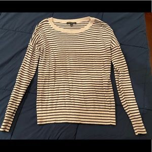 Ivory and Navy striped Banana Republic sweater